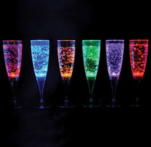 Clulite LED 6pk Champagne Glasses