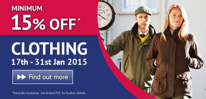 Clothing Sale 17th - 31st Jan