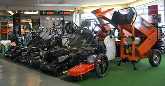 Lawn mowers, ride ons, strimmers, hedge cutters, chainsaws, shredders