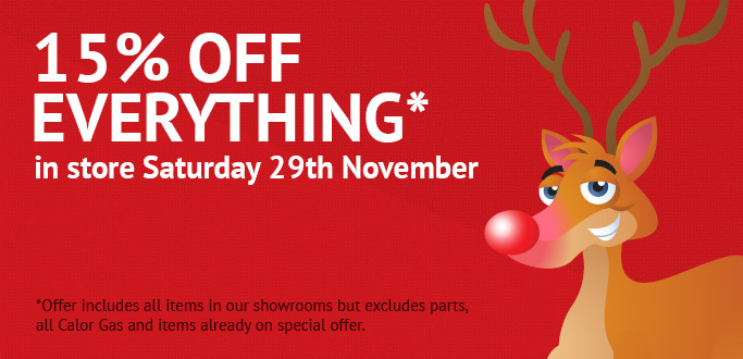 15% OFF everything in store - terms apply.