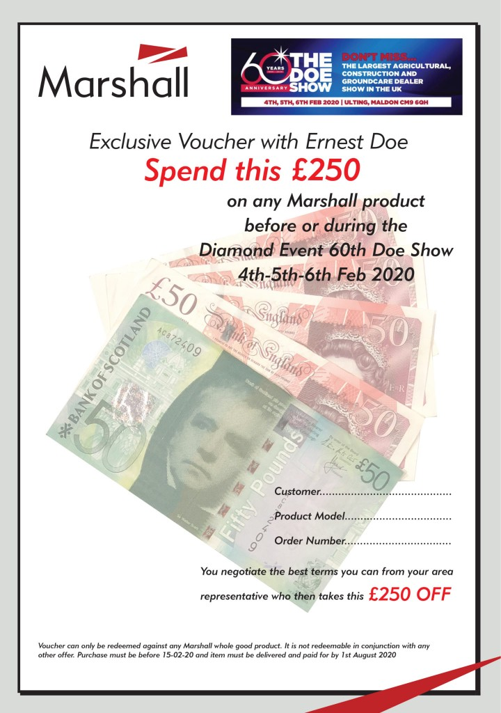 Marshall Doe Show Discount